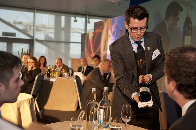 Jan Konetski sommelier Restaurant Gordon Ramsey at UK Sommeleir of the Year 2012 credit Charmaine Grieger